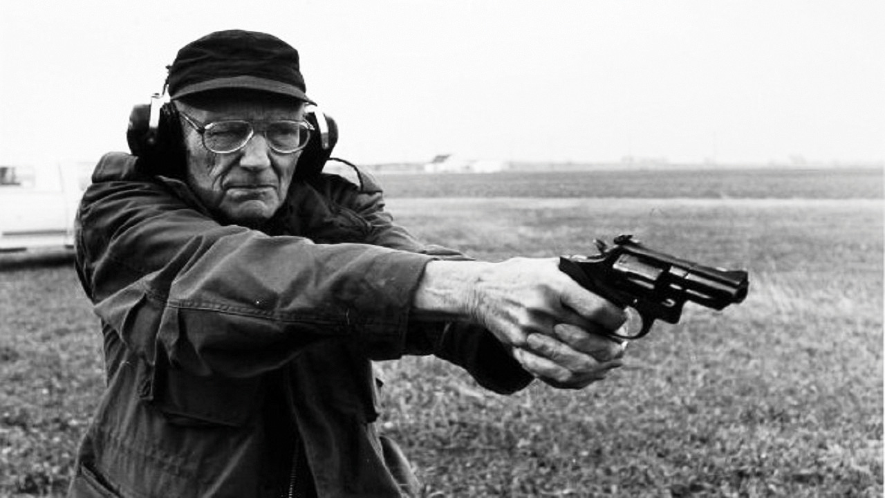 Burroughs with gun