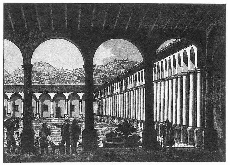 chiostro_del_lazzaretto acquaforte Acquatinta_1843